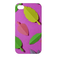 Leaves Autumn Nature Trees Apple Iphone 4/4s Premium Hardshell Case by Celenk