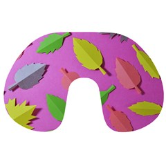 Leaves Autumn Nature Trees Travel Neck Pillows by Celenk