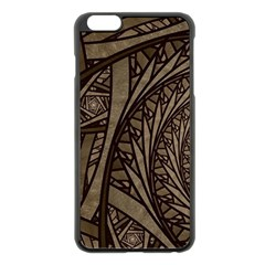 Abstract Pattern Graphics Apple Iphone 6 Plus/6s Plus Black Enamel Case