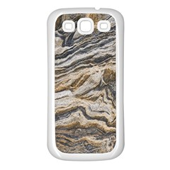 Texture Marble Abstract Pattern Samsung Galaxy S3 Back Case (white)