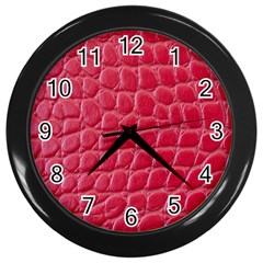 Textile Texture Spotted Fabric Wall Clocks (black)