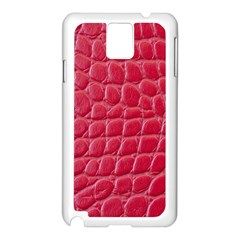 Textile Texture Spotted Fabric Samsung Galaxy Note 3 N9005 Case (white)