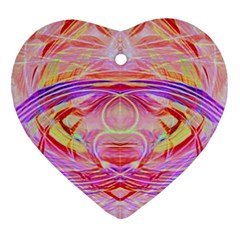 Cosmic Energy Pattern Heart Ornament (two Sides) by Cveti