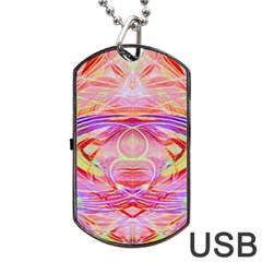 Cosmic Energy Pattern Dog Tag Usb Flash (two Sides) by Cveti