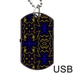 Background Texture Pattern Dog Tag Usb Flash (one Side) by Celenk