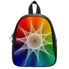 Abstract Star Pattern Structure School Bag (small)