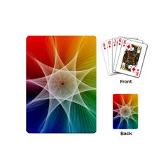 Abstract Star Pattern Structure Playing Cards (mini)  by Celenk