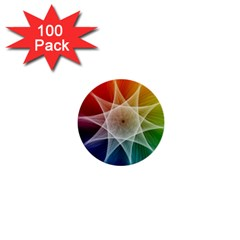 Abstract Star Pattern Structure 1  Mini Buttons (100 Pack)