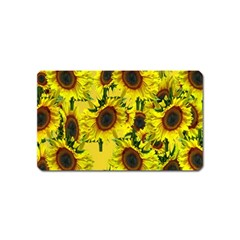 Sun Flower Pattern Background Magnet (name Card) by Celenk