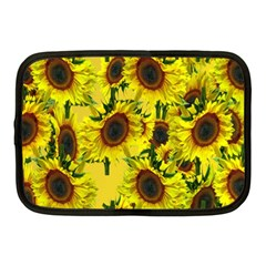 Sun Flower Pattern Background Netbook Case (medium)  by Celenk