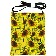 Sun Flower Pattern Background Shoulder Sling Bags by Celenk