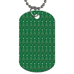 Christmas Tree Pattern Design Dog Tag (two Sides)