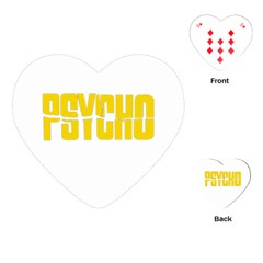 Psycho  Playing Cards (heart)  by Valentinaart