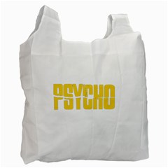 Psycho  Recycle Bag (one Side) by Valentinaart