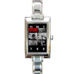 Psycho  Rectangle Italian Charm Watch by Valentinaart