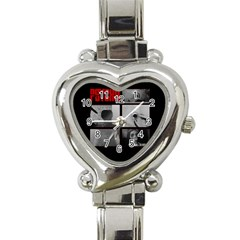 Psycho  Heart Italian Charm Watch by Valentinaart