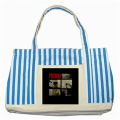 Psycho  Striped Blue Tote Bag