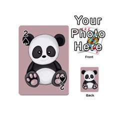 Cute Panda Playing Cards 54 (mini)  by Valentinaart