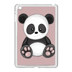 Cute Panda Apple Ipad Mini Case (white) by Valentinaart