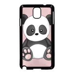 Cute Panda Samsung Galaxy Note 3 Neo Hardshell Case (black) by Valentinaart