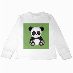 Cute Panda Kids Long Sleeve T Shirts