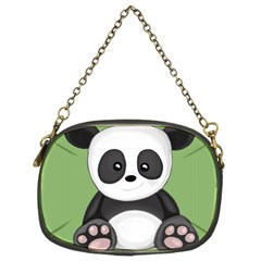 Cute Panda Chain Purses (two Sides)  by Valentinaart