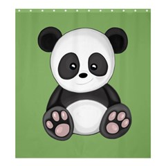 Cute Panda Shower Curtain 66  X 72  (large)  by Valentinaart