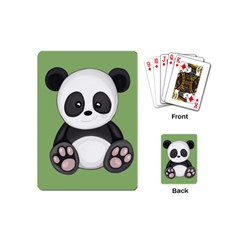 Cute Panda Playing Cards (mini)  by Valentinaart