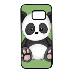 Cute Panda Samsung Galaxy S7 Black Seamless Case