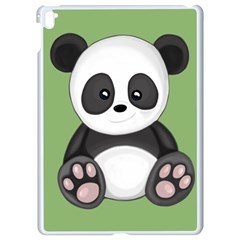 Cute Panda Apple Ipad Pro 9 7   White Seamless Case