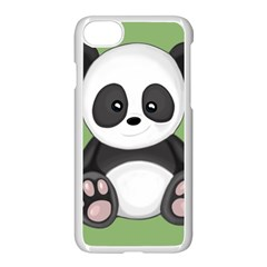 Cute Panda Apple Iphone 8 Seamless Case (white) by Valentinaart