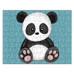 Cute Panda Rectangular Jigsaw Puzzl by Valentinaart