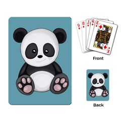 Cute Panda Playing Card by Valentinaart