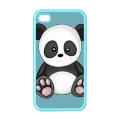 Cute Panda Apple Iphone 4 Case (color) by Valentinaart