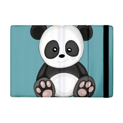 Cute Panda Apple Ipad Mini Flip Case by Valentinaart