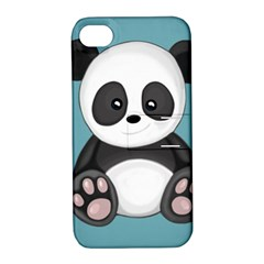 Cute Panda Apple Iphone 4/4s Hardshell Case With Stand by Valentinaart