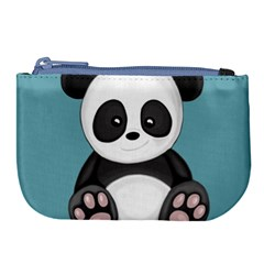 Cute Panda Large Coin Purse by Valentinaart