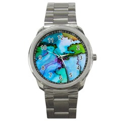Abstract Painting Art Sport Metal Watch
