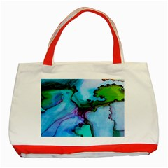 Abstract Painting Art Classic Tote Bag (red)