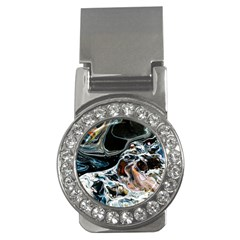 Abstract Flow River Black Money Clips (cz)