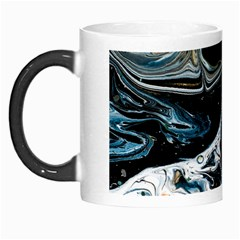 Abstract Flow River Black Morph Mugs by Celenk