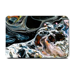 Abstract Flow River Black Small Doormat