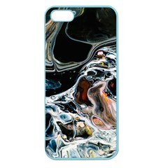 Abstract Flow River Black Apple Seamless Iphone 5 Case (color) by Celenk