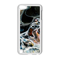 Abstract Flow River Black Apple Ipod Touch 5 Case (white) by Celenk