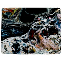 Abstract Flow River Black Jigsaw Puzzle Photo Stand (rectangular) by Celenk