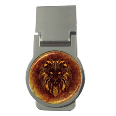 Lion Wild Animal Abstract Money Clips (round)  by Celenk