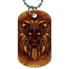 Lion Wild Animal Abstract Dog Tag (one Side)