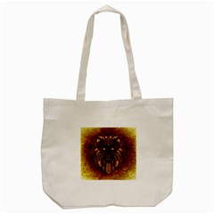 Lion Wild Animal Abstract Tote Bag (cream) by Celenk