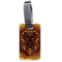 Lion Wild Animal Abstract Luggage Tags (two Sides) by Celenk