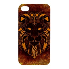 Lion Wild Animal Abstract Apple Iphone 4/4s Premium Hardshell Case by Celenk